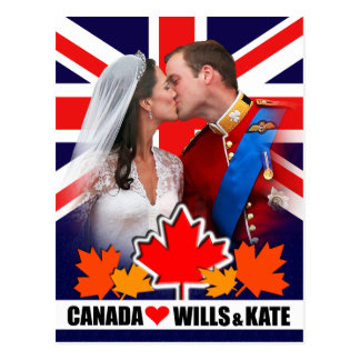 Duke & Duchess of Cambridge Canada Postcard