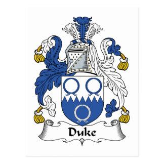 Duke Family Crest Postcard