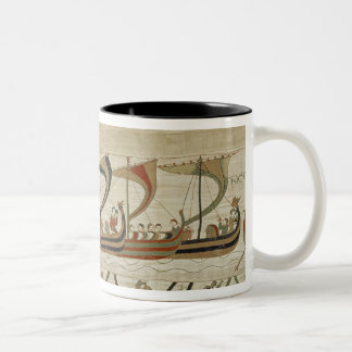 Duke William and his fleet cross the Channel Two-Tone Coffee Mug