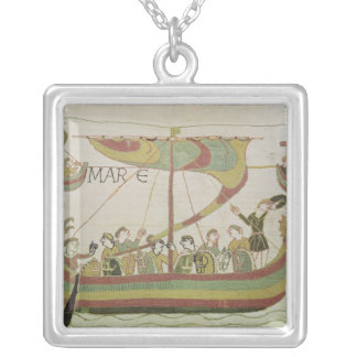 Duke William of Normandy crosses the sea Silver Plated Necklace