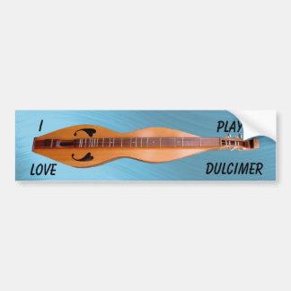 DULCIMER-BUMPER STICKER