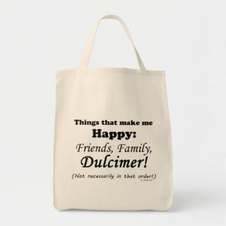 Dulcimer Makes Me Happy Tote Bag