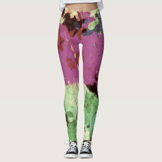 dull retro splatter womens leggings