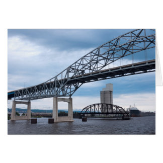Duluth Harbor Bridges on Lake Superior Card