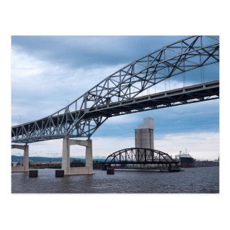 Duluth Harbor Bridges on Lake Superior Postcard