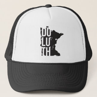Duluth, Minnesota trucker hat with mesh and map