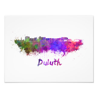Duluth skyline in watercolor photo print