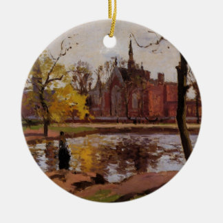 Dulwich College, London by Camille Pissarro Ceramic Ornament