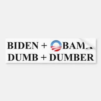 Dumb and Dumber Bumper Sticker
