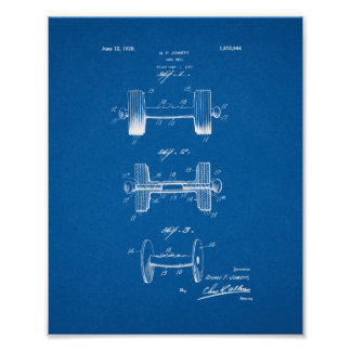 Dumb-bell Patent - Blueprint Poster