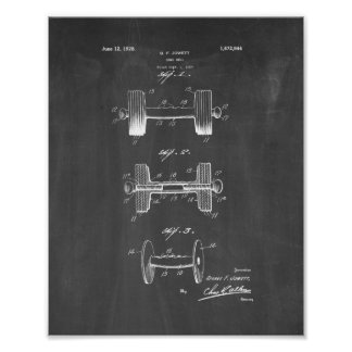 Dumb-bell Patent - Chalkboard Poster