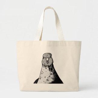 Dumb Birds Large Tote Bag