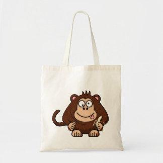 Dumb Monkey with Banana Cartoon Budget Tote Bag