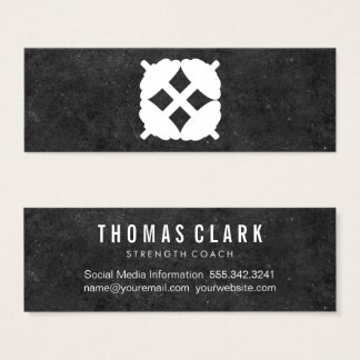 Dumbbell Cross | Personal Trainer (slate) Mini Business Card