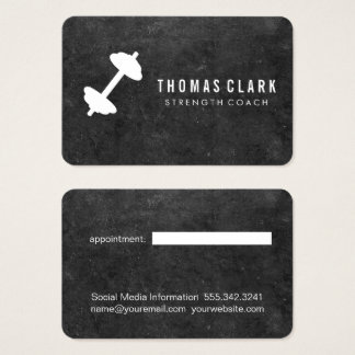 Dumbbell | Personal Trainer (slate) appointment Business Card