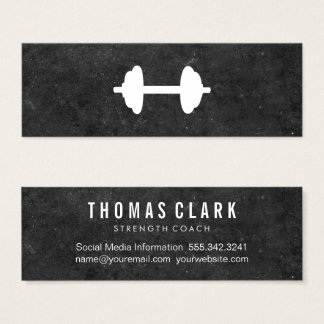Dumbbell | Personal Trainer (slate) Mini Business Card