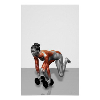 Dumbbell Single Leg Deadlift 2 Poster