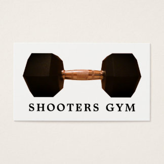 Dumbbell Weight, Fitness Instructor, Gym Business Card
