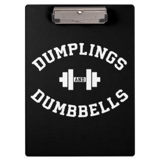 Dumbbells and Dumplings - Funny Bulking Novelty Clipboard