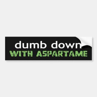 dumbdown bumper stickers