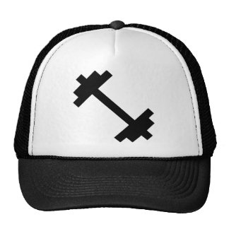 Dumbells barbells muscles gym fitness work out trucker hat