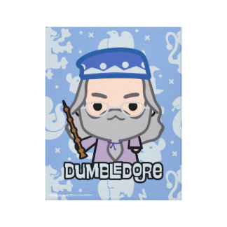 Dumbledore Cartoon Character Art Canvas Print