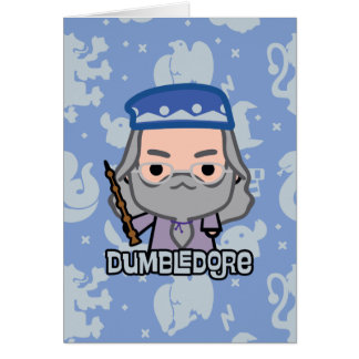 Dumbledore Cartoon Character Art Card