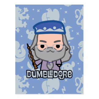 Dumbledore Cartoon Character Art Postcard