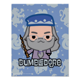 Dumbledore Cartoon Character Art Poster