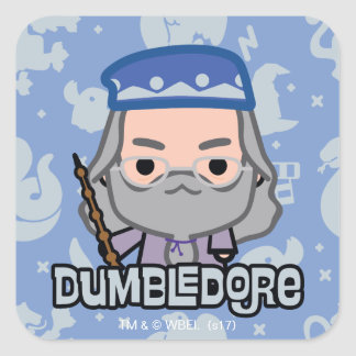 Dumbledore Cartoon Character Art Square Sticker