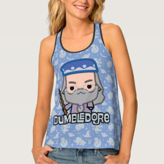 Dumbledore Cartoon Character Art Tank Top