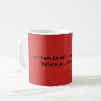 Dumbness shooting mug Red