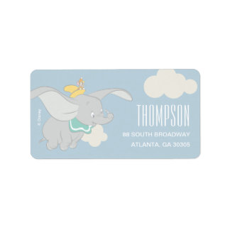 Dumbo | Boy Baby Shower Label