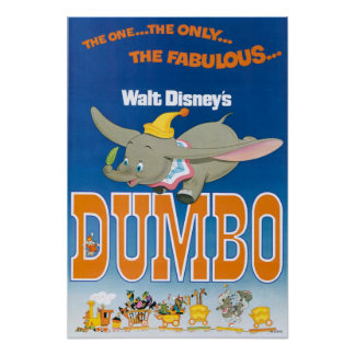 Dumbo Flying Poster