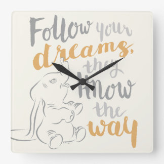Dumbo | Follow Your Dreams Clock