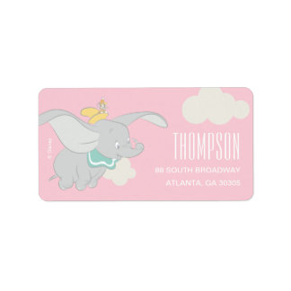 Dumbo | Girl Baby Shower Label