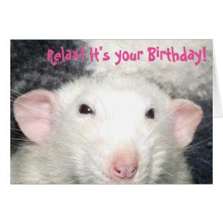 Dumbo rat birthday card