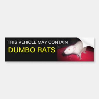 Dumbo rats bumper sticker