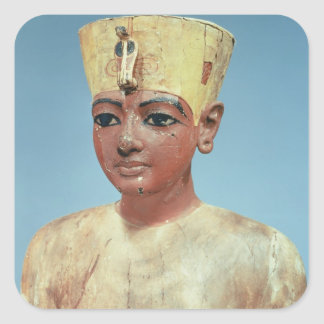 Dummy' of the young Tutankhamun  wearing Square Sticker