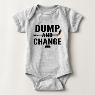 Dump and Change Hockey Baby Bodysuit Color Sticks