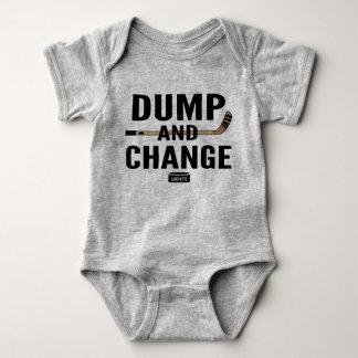 Dump and Change Hockey Baby Bodysuit Color Sticks