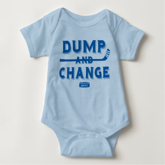 Dump and Change Hockey Baby Bodysuit Royal Blue