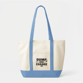 Dump and Change Hockey Diaper Blue Tote Bag