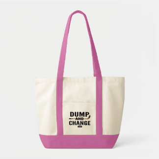 Dump and Change Hockey Diaper Pink Girl Tote Bag