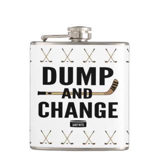 Dump and Change Hockey Hip Flask