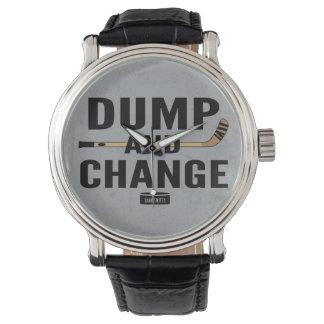 Dump and Change Hockey Stick Color Wrist Watch