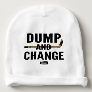 Dump and Change Hockey Stick Infant Hat Cap Baby Beanie