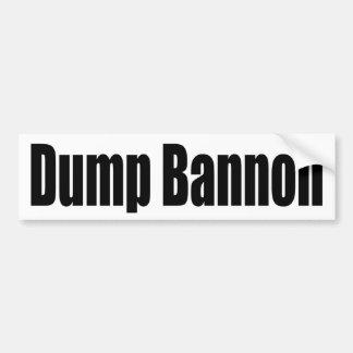 Dump Bannon Bumper Sticker