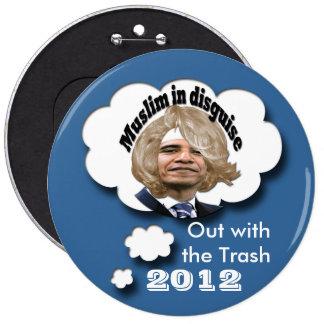 Dump Obama 6 Inch Round Button