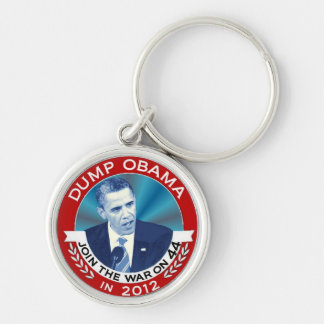 Dump Obama in 2012 Silver-Colored Round Keychain